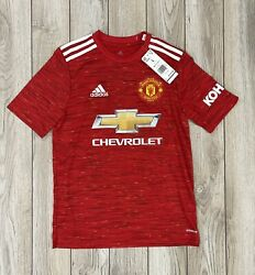 Nwt Youth Adidas Manchester United Epl Soccer Jersey - Size Large - 70