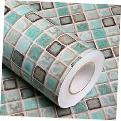 Mosaic Adhesive Wallpaper Thick Self Adhesive Removable Peel and 15.7quot;x78.7quot;