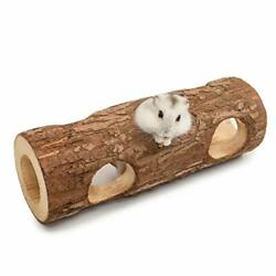 Natural Wooden Hamster Mouse Tunnel Tube Toy Forest Hollow Tree Trunk