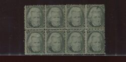93 Jackson Rare F-grill Mint Block Of 8 Stamps Stock 93 Block 1 By144