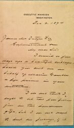 Reduced President Grover Cleveland Signed 1894 Handwritten Letter Autographed