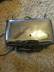 Vintage General Electric Ge Automatic Grill Waffle Iron Baker A3g44t