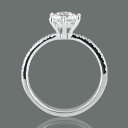 2.13 Ct F/si2 Womenand039s Round Cut Diamond Engagement Ring 14k White Gold