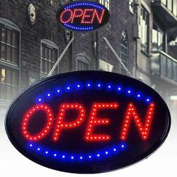 Ultra Bright Led Neon Light Animated Motion With On/off Led Open Business Sign