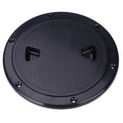 8 180mm Screw Out Deck Plate Access Hatch Cover Black Plastic For Boat Marine
