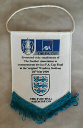 Chelsea Football Club F.a Cup Win 2000 Flag Last Final At Old Wembley