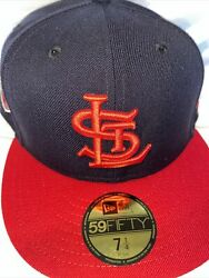 7 1/2 St. Louis Cardinals Navy/red 1944 World Series Grey Bottom Fitted Hat