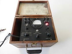 Antique Computer Ibm Electric Time System Analyzer Meter Oak Case 1930-40's Wwii
