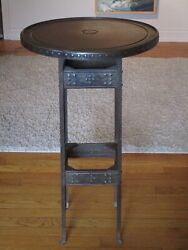 A Good German Copper And Iron Table Stand, Probably Goberg, Ca.1910