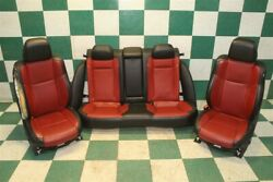 17' Charger R/t Black Red Leather Seats Dual Power Heat Cool Oem Seats Backseat