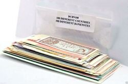 100 Different World Banknotes Paper Money From 100 Different Countries Uncircul