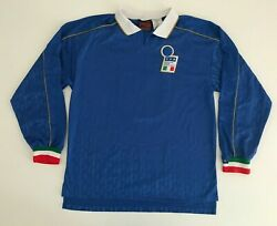 Italy 1995/96 Nike Costacurta Home Football Shirt L Vintage Soccer Jersey Maglia