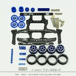 Ar Chassis Upgrade Parts Set Carbon Fiber Frp With Wheels Tires Guide Roller Dam
