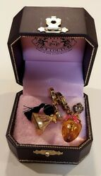 Juicy Couture🎀gold Atomizer And Perfume Bottle Charm Lot Retired🎀rare