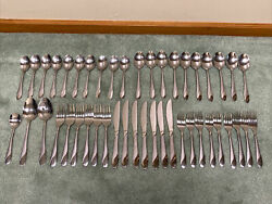 45 Pcs Cambridge Swirl Sand Satin Stainless Flatware Nice Forks Spoons Knives++