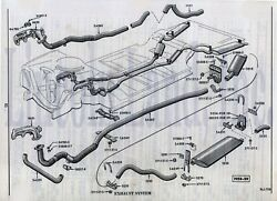 1958-60 Lincoln Dual Exhaust, Aluminized With Resonators. Confirm Year Of Car