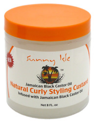 Sunny Isle Jamaican Black Castor Oil Natural Curly Styling Custard 8 Ozpack Of