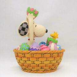 Peanuts Jim Shore Figure Snoopy And Woodstock An Easter Surprise From Japan