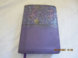 Holy Bible New King James Version Holman Pub. 2013 Purple Cover Preowned