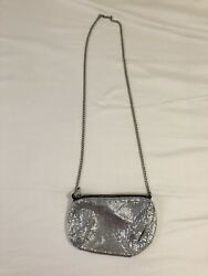 Urban Outfitters Chain mail Cross Body Silver Bag $22.00