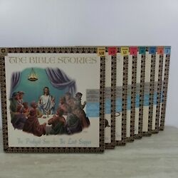 The Bible Stories 8 Record Collection Lps Leif Erickson Old And New Testament