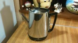 Vintage General Electric Stainless Steel Coffee Percolator,10cup,worksgreat,rare