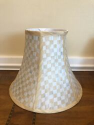 Mackenzie Childs Parchment Check Small Lamp Shade 6x10x12