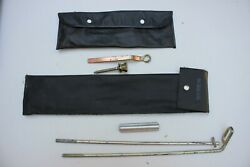 Lot Of 2 Vintage Oem Nissan Datsun 240z And Other Tool Kit Roll Pouch