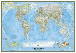 National Geographic World Classic Enlarged Wall Map By National Geographic Maps