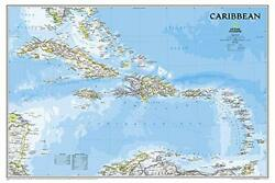 National Geographic Caribbean Classic Wall Map - By National Geographic Maps