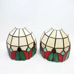 8-inch Style Wall Lamp Shades Red White Green Coloured Glass Decorative