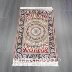 Yilong 3and039x5and039 Handmade Silk Carpet Living Room Medallion Classic Area Rug Z538a