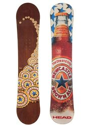 Newcastle Ale Snowboard By Head 153cm Medium Stance Rare Vg Limited Edition 54