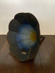 Morning Glory Antique Phonograph Horn For Cylinder Player Edison Blue Babson