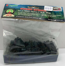 Z Scale Jtt Scenery Products 92025 1-2 Super Scenic Spruce Trees 55/pk