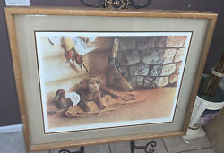 Jerry Gadamus Signed First Day On Job Limited Edition Framed Print Puppy Hunting