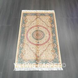 Yilong 3and039x5and039 Handmade Silk Carpet Antistatic Easy To Clean Indoor Rug Z534a