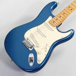 Fender American Ultra Stratocaster Maple Neck Cobra Blue Used Electric Guitar