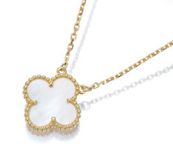 Auth And Necklace Shell Vintage 18k 750 Yellow Gold