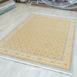 Yilong 6.56'x9.84' Yellow Wool Rug Living Room All-over Family Room Carpet 310w
