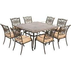 Traditions9pc 8 Dining Chairs 60 Square Cast Table