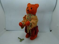 Rare Vintage Wind Up Russian Mohair Bear