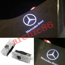 2x Door Light Car Logo Led Ghost Shadow Projector For Mercedes Benz Cla Cls C E