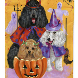 Caroline's Treasures Ppp3146chf Poodle Halloween Flag Canvas House Size , Large,