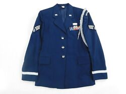 Us Air Force Honor Guard Coat Womenand039s 12 Wl Aiguillette And Jacket Dress Blue 1620
