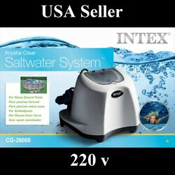 Intex Krystal Clear Saltwater System With E.c.o. Electrocatalytic Oxidation New