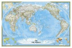 World Classic Pacific Centered [tubed] National By National Geographic Maps