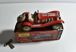 Vintage Schuco Micro Racer Wind Up Toy Mercedes Typ 1928 1043/1 Western Germany