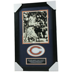Dick Butkus Signed Chicago Bears Framed 8x10 Photo With Name Plate - Jsa