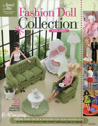 Fashion Doll Collection Book 3, 30 Projects Fit Barbie Doll Crochet Patterns New